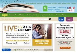 St. Charles City-County Library website