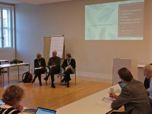 In the photo: Dr. Cindy Hmelo-Silver, Dr. Gerry Stahl, Dr. Isa Jahnke in Session 3 about Support for Learning.