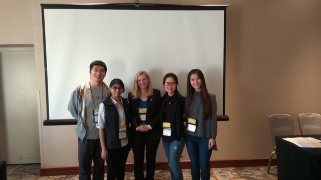 IE Lab Team at AECT 2018 (from left: Hao He, Gayathri Sadanala, Isa Jahnke, Minh Pham, and Yen-Mei Lee)