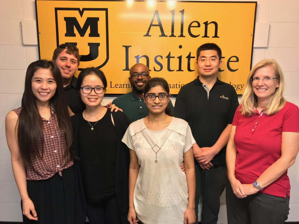 IE Lab Team — Research Assistants and Director: (left-to-right) Yen-Mei Lee, Nathan Riedel, Minh Pham, Carl Hewitt, Gayathri Sadanala, Hao He, and Isa Jahnke (Research Director).