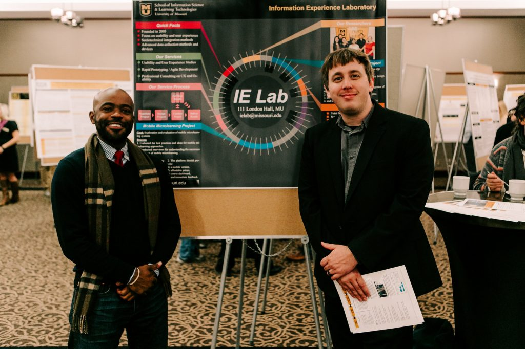 IE Lab researchers Carl Hewitt (left) and Nathan Riedel (right).